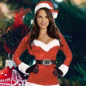 Dresses & Skirts - NEW SANTA BABY SANTA COSTUME IN CRUSH VELVET